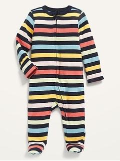 Pyjama une-pièce à pieds avec mitaines rabattables pour Bébé