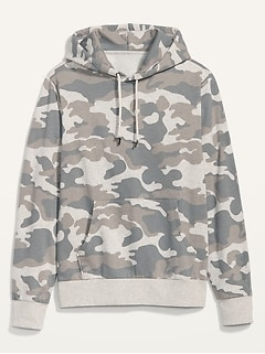 Gender-Neutral Patterned Pullover Hoodie for Adults