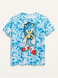 Gender-Neutral Licensed Pop-Culture Graphic Tie-Dye Tee for Kids