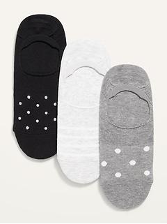 Chaussettes basses de fantaisie pour espadrilles pour femme (paquet de3)