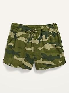 Linen-Blend Pull-On Shorts for Girls