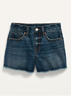 Extra High-Waisted Sky-Hi Cut-Off Jean Shorts for Girls