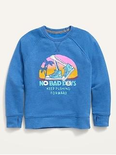 Vintage Crew-Neck Pullover Sweatshirt for Boys