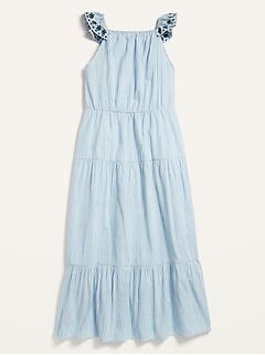 Sleeveless Tiered Maxi Dress for Girls