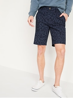 Slim Ultimate Floral-Print Twill Shorts for Men -- 10-inch inseam