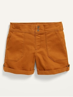 Twill Utility Shorts for Girls