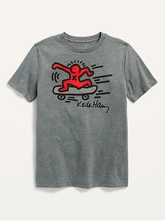 Gender-Neutral Licensed Keith Haring Graphic Tee for Kids
