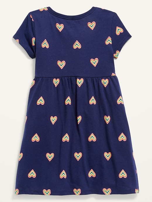 Fit & Flare Short-Sleeve Jersey Dress for Toddler Girls