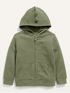 Unisex Solid Critter Zip Hoodie for Toddler