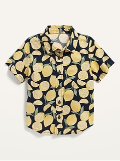 Short-Sleeve Poplin Shirt for Toddler Boys