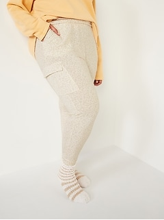 Mid-Rise French Terry Plus-Size Live-In Cargo Jogger Pants