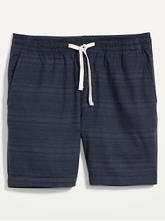 Striped Twill Jogger Shorts for Men -- 7-inch inseam