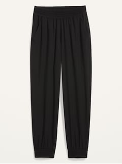 High-Waisted StretchTech Tapered Pants for Women