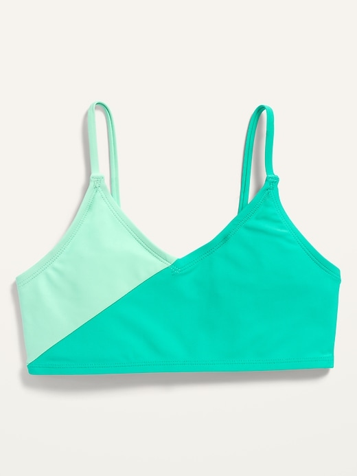 Color-Blocked Swim Top for Girls
