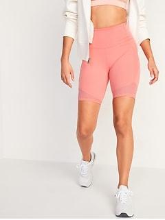 High-Waisted Elevate Side-Pocket Bermuda Biker Shorts for Women -- 8-inch inseam