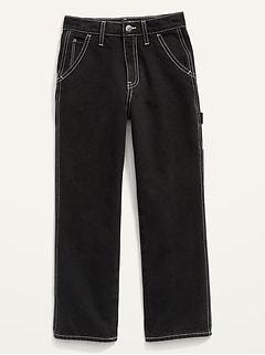 High-Waisted Workwear Ankle Jeans for Girls