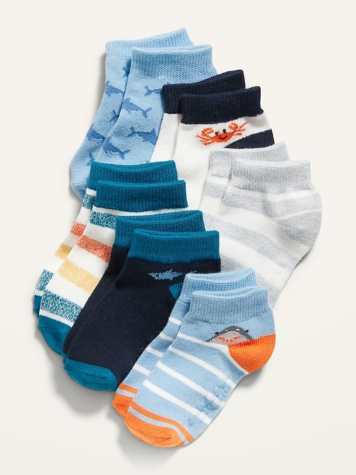 Unisex Ankle Socks 6-Pack for Toddler & Baby