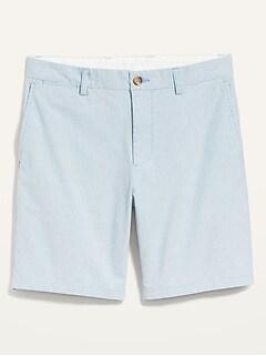 Slim Micro-Stripe Ultimate Chino Shorts for Men -- 8-inch inseam