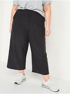 High-Waisted Breathe ON Crop Wide-Leg Plus-Size Pants