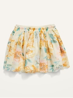 Printed Tutu Skirt for Toddler Girls
