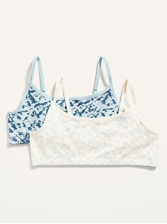 Printed Jersey-Knit Cami Bra 2-Pack for Girls