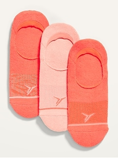 Go-Dry Cool Athletic No-Show Socks 3-Pack for Women
