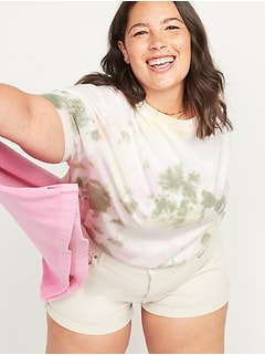 Loose Specially Dyed Vintage Plus-Size Tee