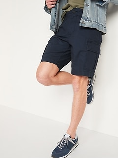 Lived-In Straight Khaki Cargo Shorts for Men -- 10-inch inseam