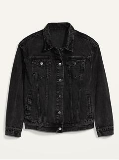 Boyfriend Black Jean Jacket for Women