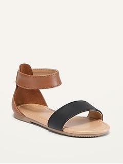 Sandales à couleurs contrastantes pour toute-petite