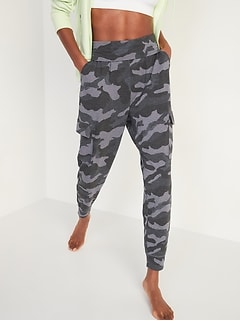 Mid-Rise Live-In Cargo Jogger Sweatpants for Women