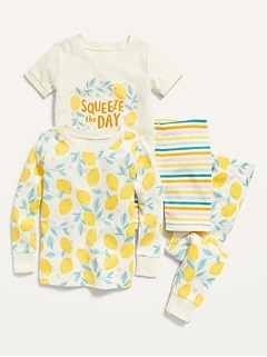 Graphic 4-Piece Pajama Set for Toddler & Baby