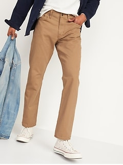 Pantalon en sergé à cinq poches, coupe standard pour homme