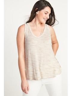 Luxe Space-Dye Stripe Tank Top for Women
