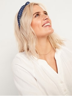 Fabric-Covered Headband For Women