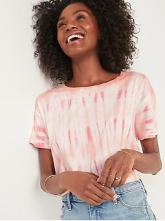 Loose Specially Dyed Easy Tee for Women