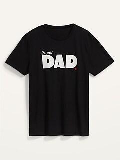 T-shirt à imprimé assorti «Super Dad» pour Homme