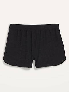 Mid-Rise Breathe ON Dolphin-Hem Plus-Size Shorts --4.5-inch inseam