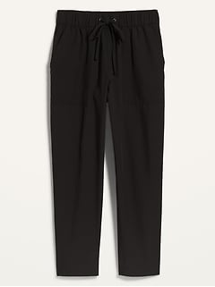 High-Waisted StretchTech Utility Crop Pants for Women