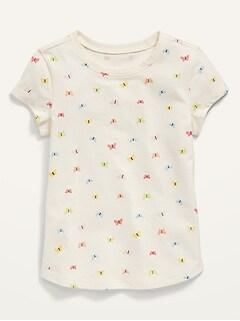 T-shirt imprimé à manches courtes pour Toute-petite Fille