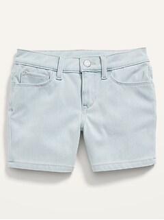24/7 Jean Midi Shorts for Girls