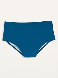 High-Waisted Secret-Slim Plus-Size Boyshort Swim Bottoms