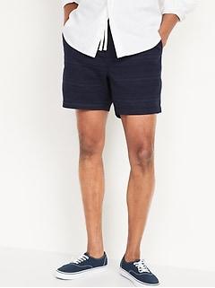 Micro-Stripe Twill Jogger Shorts for Men -- 9-inch inseam