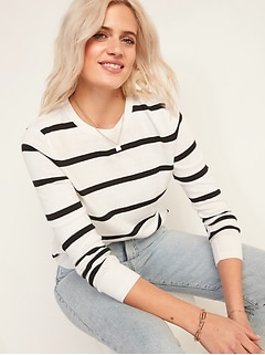 Lightweight Crew-Neck Sweater for Women