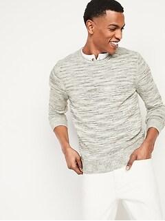 Textured Crew-Neck Sweater for Men