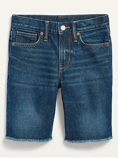 Gender-Neutral Medium-Wash Non-Stretch Jean Shorts for Kids