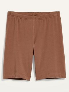High-Waisted Jersey Bike Shorts for Women -- 7-inch inseam