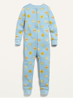 Unisex Printed Pajama One-Piece for Toddler & Baby