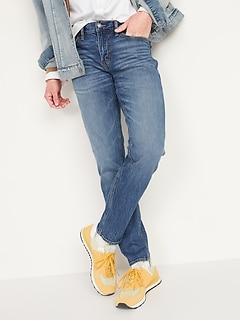 Relaxed Slim Taper Built-In Flex Jeans for Men