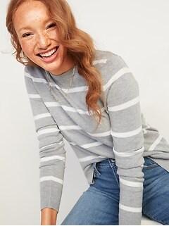 Lightweight Crew-Neck Sweater for Women